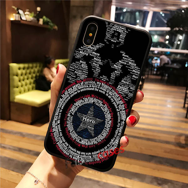 promo code 89e62 2aafd Avenger Shield Captain America iPhone Cases Samsung Phone Case