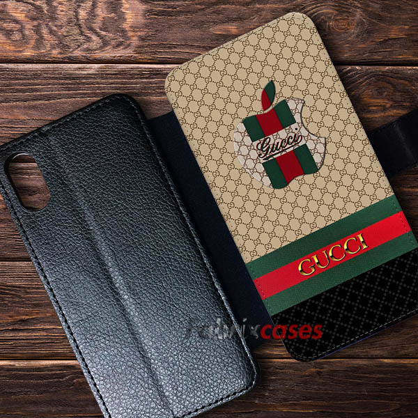 sports shoes 9e77f 4730b Gucci Apple Logo Cases Wallet Samsung iPhone Case