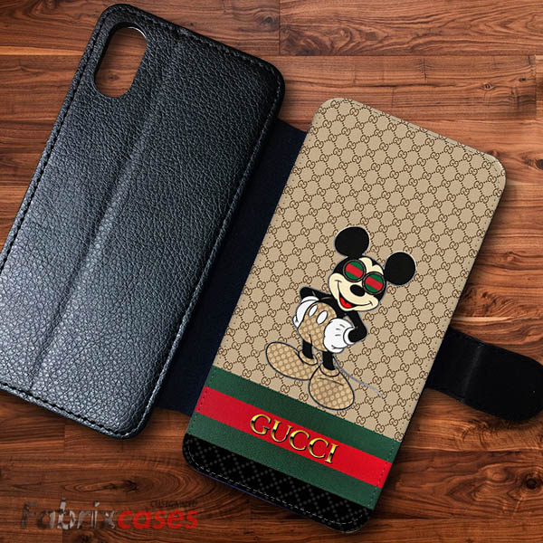 premium selection cec65 bc648 Gucci Mickey Mouse Cases Wallet Samsung iPhone Case