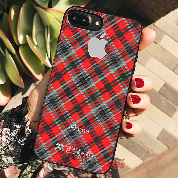 new styles 960a1 ebb1e Plaid iPhone Cases Samsung Phone Case